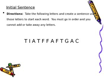Building Word Skills with Initial Sentence