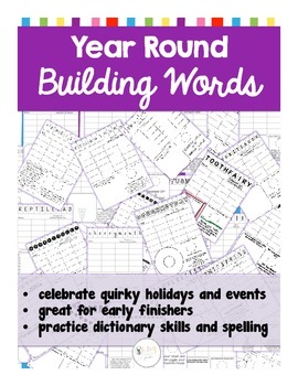 Building Words ALL YEAR