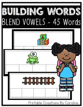 Building Words. BLENDS. Word Cards. Centers.
