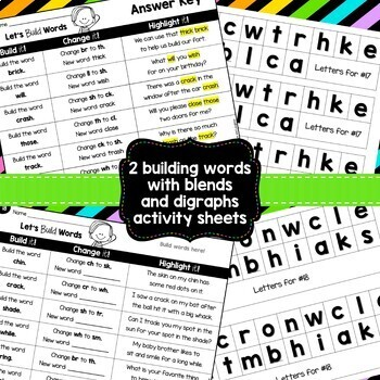 Building Words {Blends and Digraphs Edition}