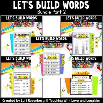 Building Words Bundle Part 2 Distance Learning Packet