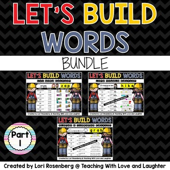 Building Words Bundle Part 1 Distance Learning Packet