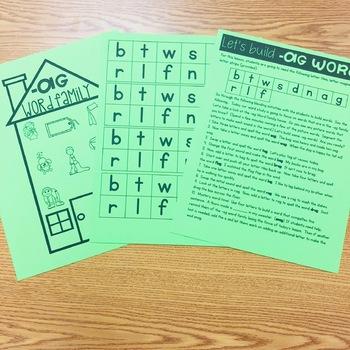 Building Words:  CVC Word Families