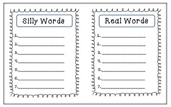 Building Words [Creating Real & Silly (Nonsense) Words]
