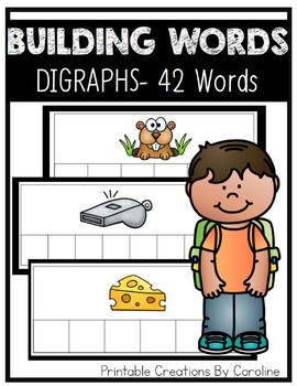 Building Words. DIGRAPHS. Word Cards. Centers.