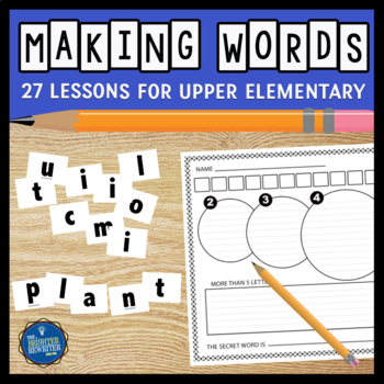 Making Words Vocabulary Activities