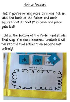 Building Words Folder