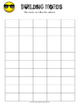 Building Words Graphic Organizer