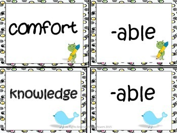 Building Words Literacy Game with Prefixes and Suffixes