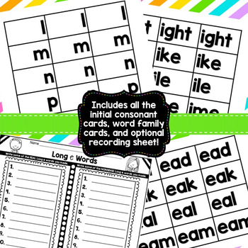 Building Words {Long Vowel Word Families Small Group Game Edition}