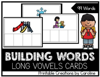 Building Words. Long Vowels. Word Cards. Centers.