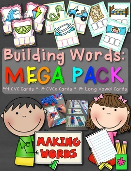 Building Words: MEGA PACK - Includes CVC, CVCe, and Long V