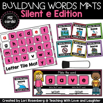 Building Words Mats {Silent e Edition}