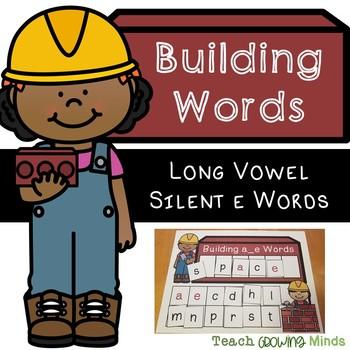 Building Words Phonics Mats -  Long Vowel Silent e