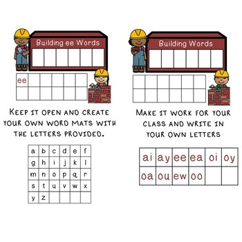 Building Words Phonics Mats - R-Controlled
