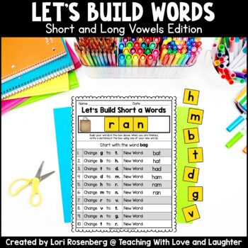 Building Words {Short and Long Vowels Edition}