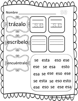 Building Words Spanish Kinder Edition Letters: s, e, o, a, t