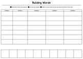 Building Words - Word Work