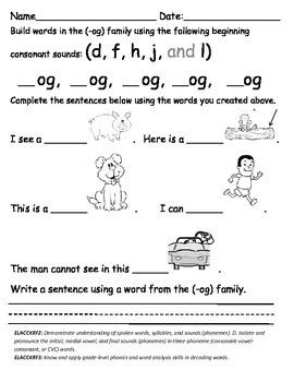 """Building Words for """"OG"""" Family"""