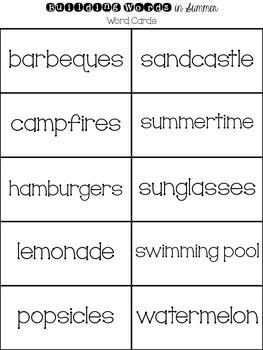 Building Words in Summer