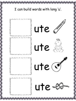 Building Words with Long 'U'