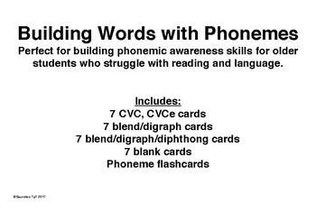 Building Words with Phonemes