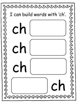 Building Words with ch, wh, -tch