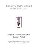 Building Your Child's Speaking Skills: Parent & Teacher Ar