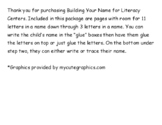 Building Your Name-for Literacy Centers