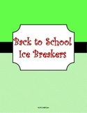Building a Classroom Community Ice Breakers