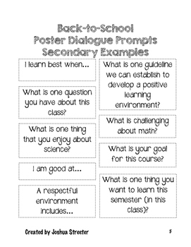 Building a Classroom Community Using Poster Dialogue