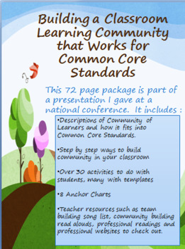 Building a Classroom Learning Community that Works for CCSS