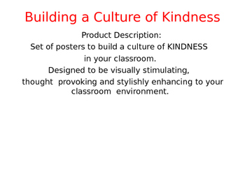 Building a Culture of Kindness - Package #1