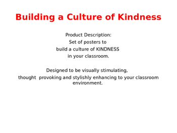 Building a Culture of Kindness - Package #2