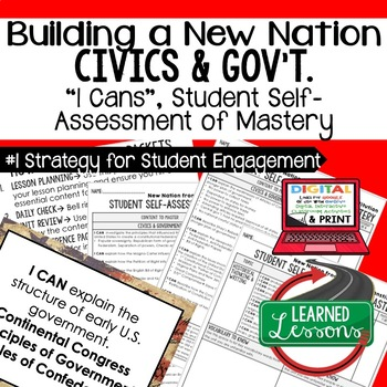 Building a New Nation I Cans, Self-Assessment of Mastery, CIVICS