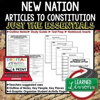 Building a New Nation Outline Notes JUST THE ESSENTIALS (American History)