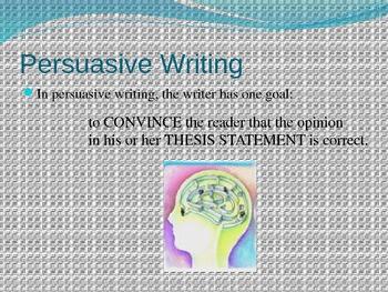Building a Persuasive Argument
