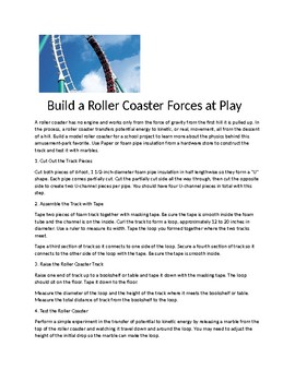Building a Roller Coaster  Forces at work