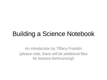 Building a Science Notebook