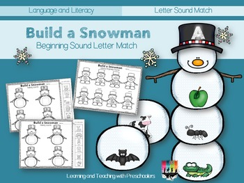 Building a Snowman Beginning Sounds