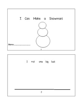 Building a Snowman - Booklet + Worksheet