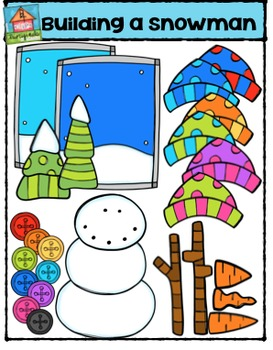 Building a Snowman  {P4 Clips Trioriginals Digital Clip Art}