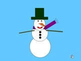 "Building a Snowman - WITH SLIDE-TO-SLIDE ""ANIMATION"" (PowerPoint)"