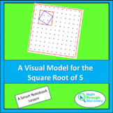 Geometry - A Visual Model for the Square Root of 5