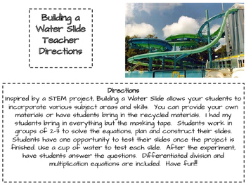 Building a Water Slide Project