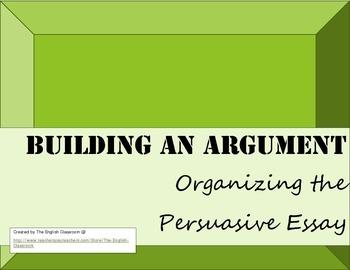 Building an Argument Essay