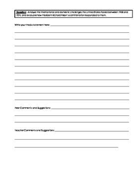 Building an Essay - Scaffolds (AP aligned)