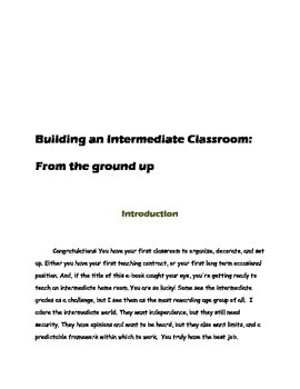 Building an Intermediate Classroom: From the Ground Up