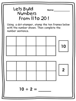 Building and Adding Numbers - using 10 Frames