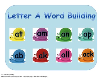 Building and Blending Short A Words